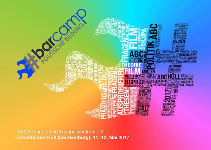 Flyer vom BarCamp politische Bildung 2017