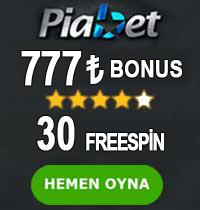 Piabet Casino Bonus tablosu