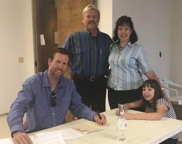 Seth Nedever; Jack, Eileen, Cathy Pierce