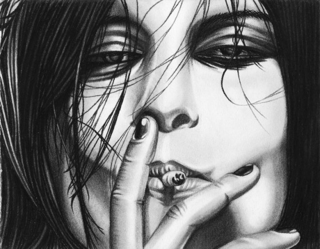 Alison Mosshart Smokin is Cool by JJRRS on deviantArt