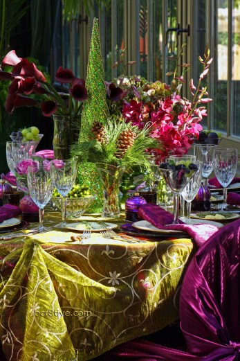 Jewel Toned Holiday Table Setting