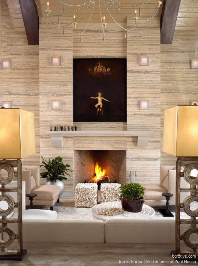Sitting Area of the Beckwith Poolhouse