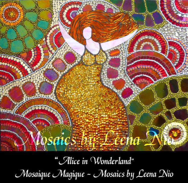 Mosaics by Leena Nio - Alice in Wonderland