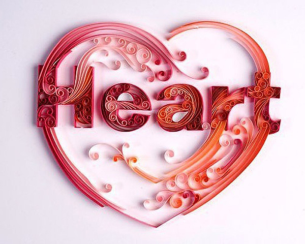 Quilled heart by Yulia Brodskaya
