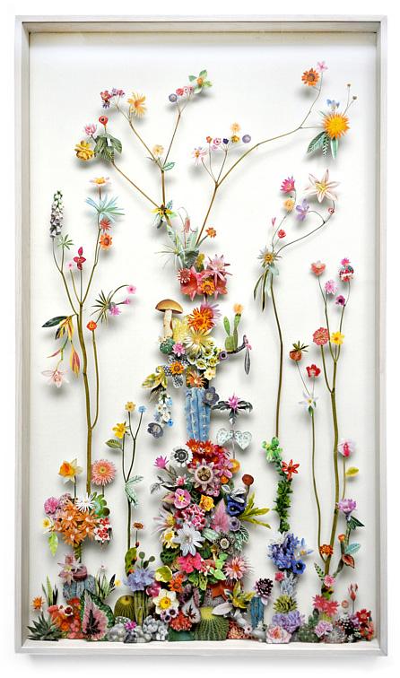 3D Botanical Flower Constructions by Anne Ten Donkelaar