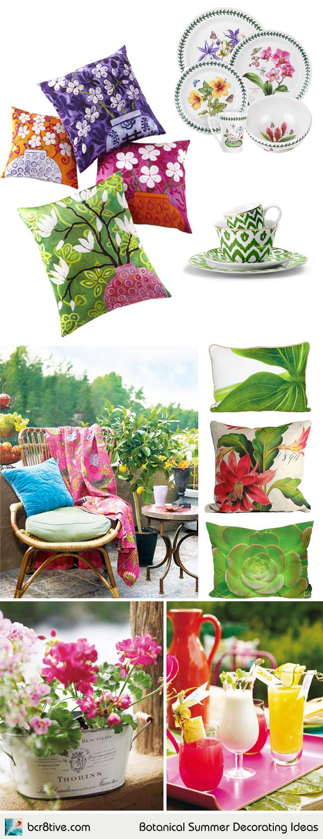 Botanical Summer Decorating Ideas