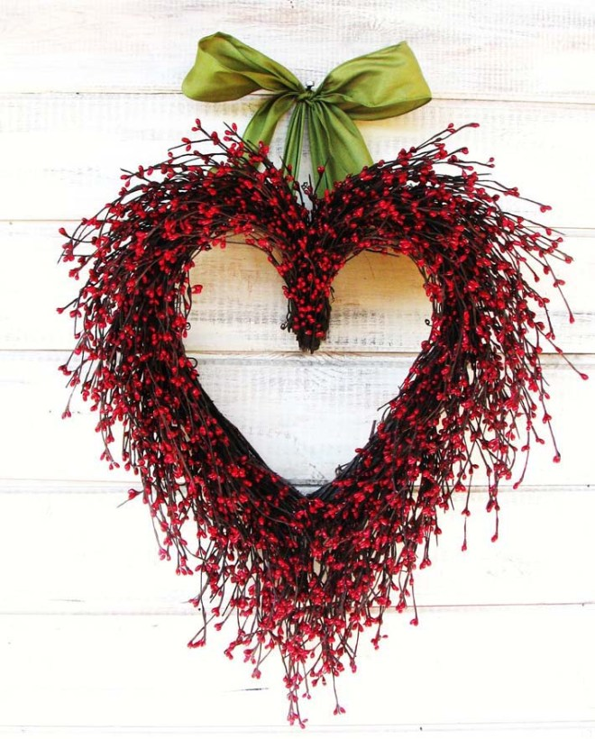 Say I LOVE YOU - Valentines Day Wreath by Wild Ridge Design on Etsy