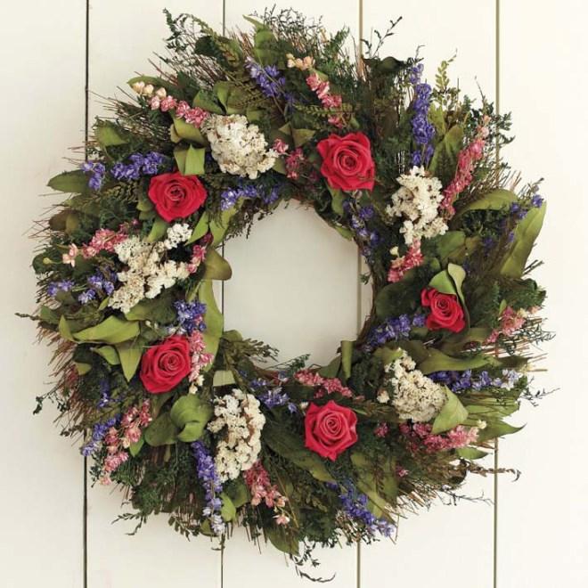 Williams Sonoma - Garden Rose Wreath
