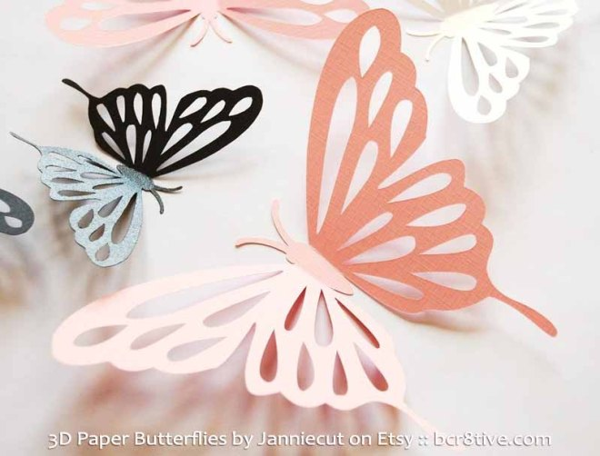 3D Paper Butterflies by Janniecut on Etsy