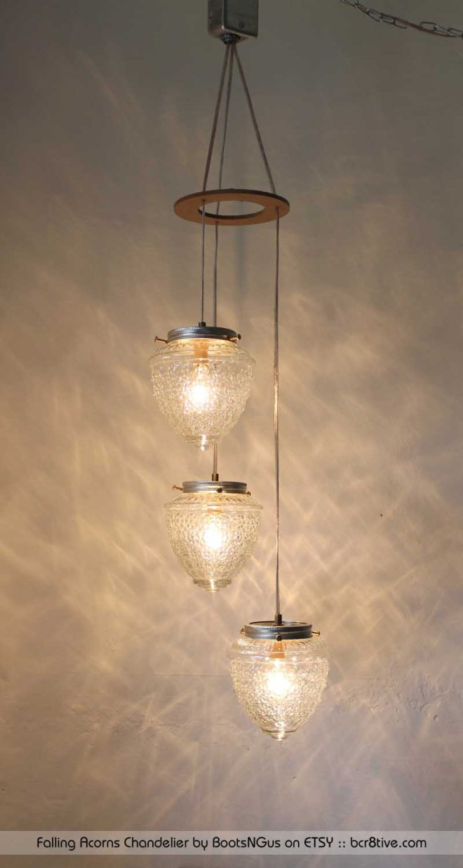 Falling Acorns Chandelier by BootsNGus