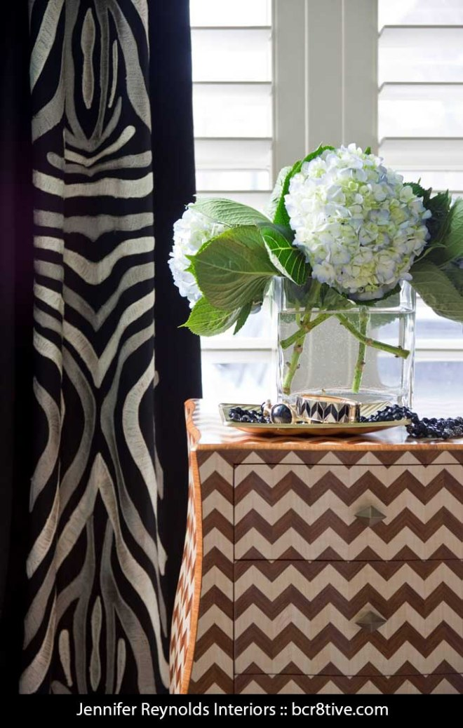 Jennifer Reynolds Interiors - Zigzag Bombe Chest