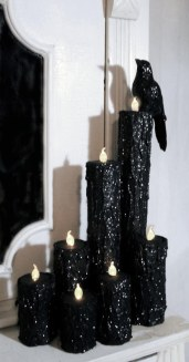 DIY Black Halloween Candles
