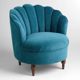 Peacock Blue Velvet Telulah Chair