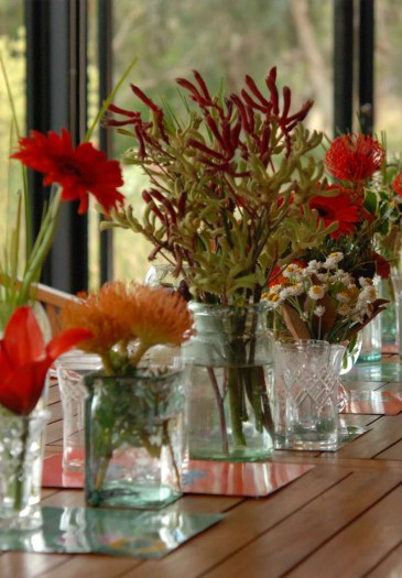 Recycled Glass Vases for Holiday Table Decorating Ideas