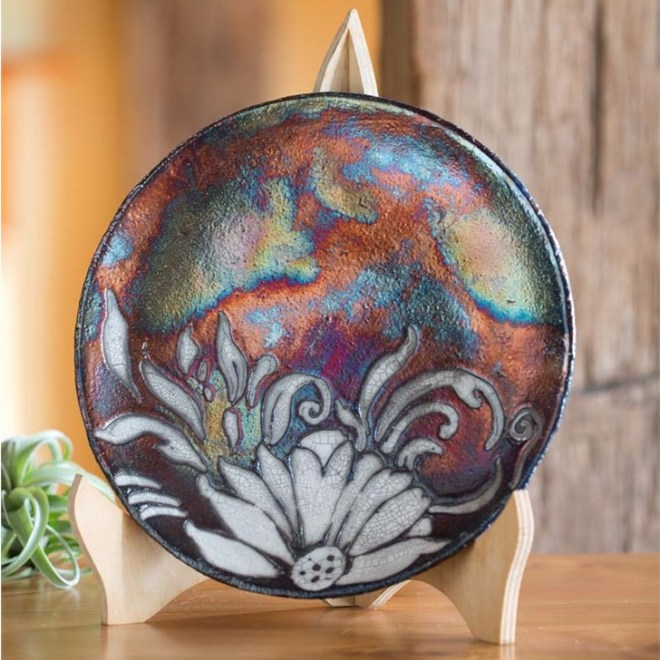 Decorative Ceramic Raku Plate