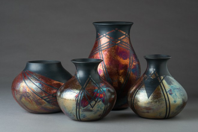 Raku Pottery by Lori Cramer