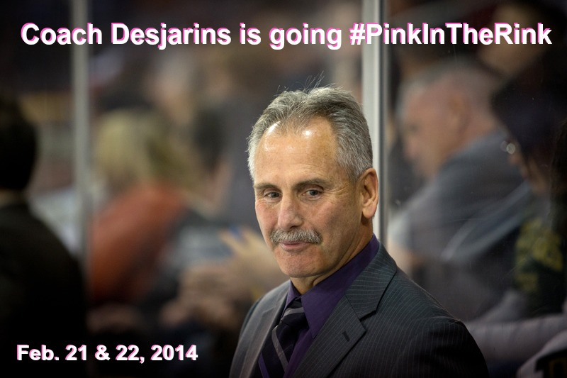 Texas Stars Coach Desjardins Pink In The Rink