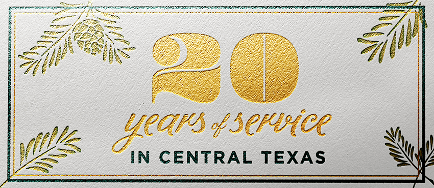 BCRC 20 years of service in Central Texas