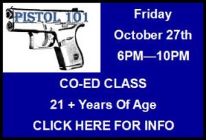 Pistol 101 Class 10/27/17