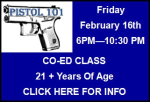 Blue Line Pistol 101 Training