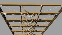 Zipper truss rendering