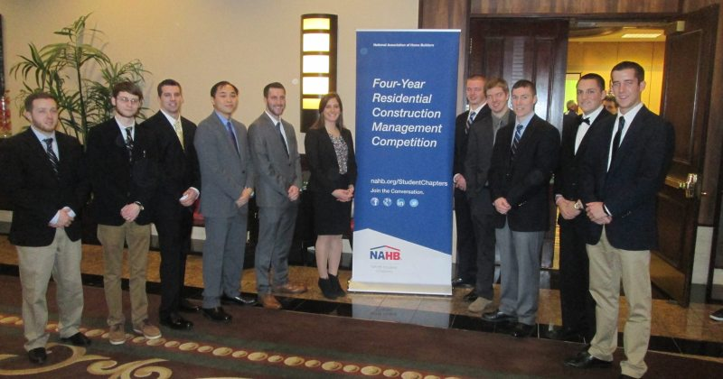NAHB students participate in 2015 Residential Construction Management Competition