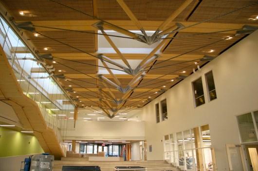 Main atrium with roof trusses