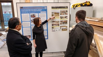 Presenting BCT research and the timber gridshell in our new lab