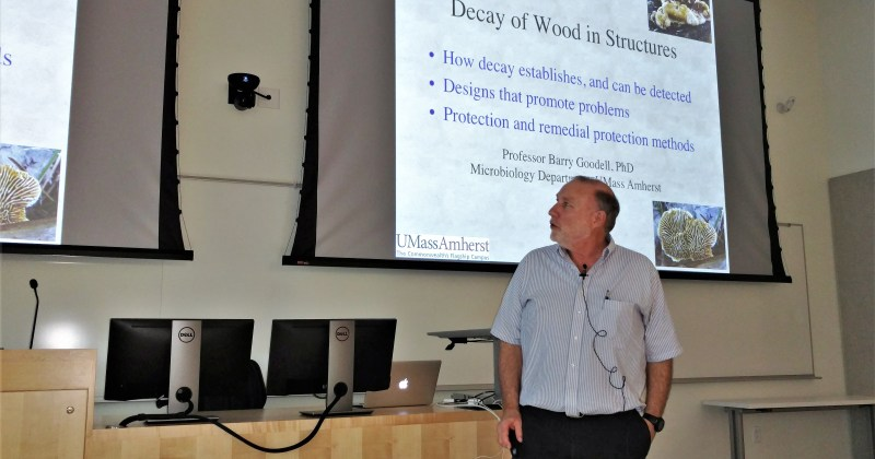 Barry Goodell speaks about decay of wood in structures