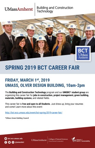BCT Spring 2019 Career Fair @ Design Building Atrium & Room 170 | Amherst | Massachusetts | United States