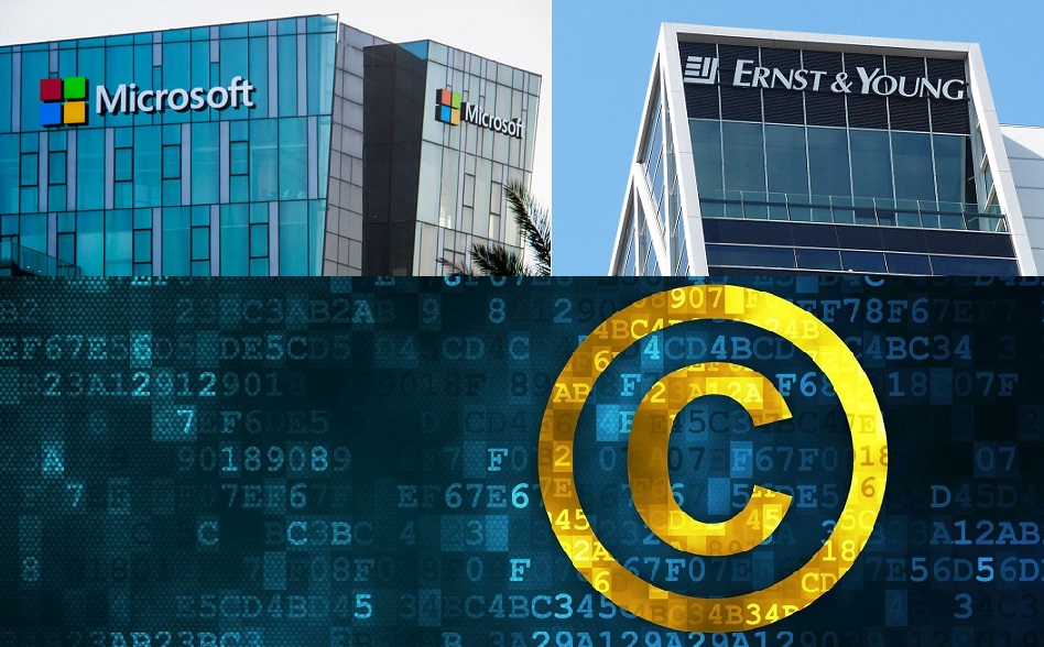 blockchain content rights microsoft EY