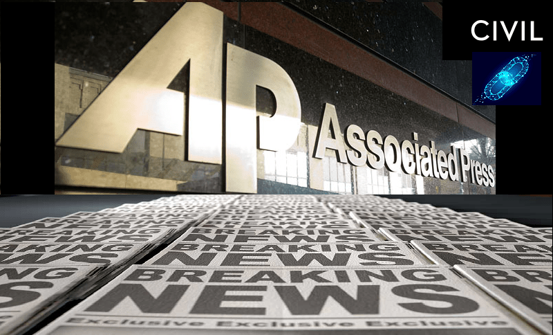 associated press partners with blockchain startup