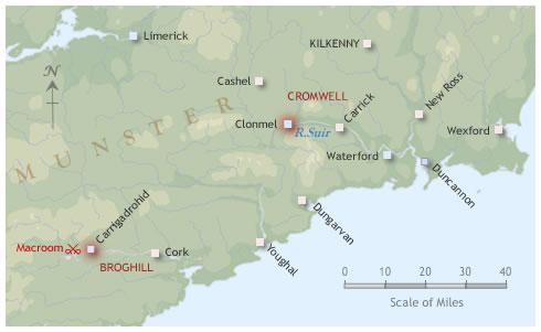 Siege of Clonmel campaign map 1650