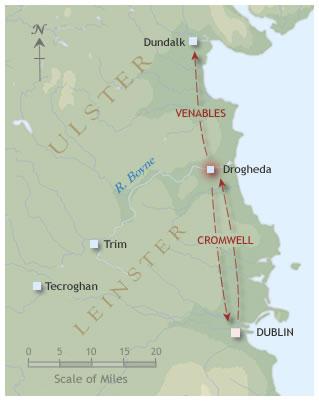 Drogheda campaign map 1649