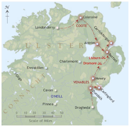 Ulster campaign map 1649