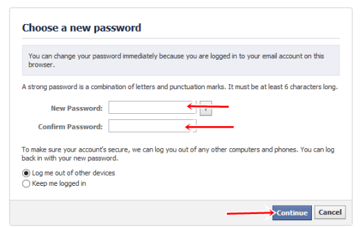 Choose a new password