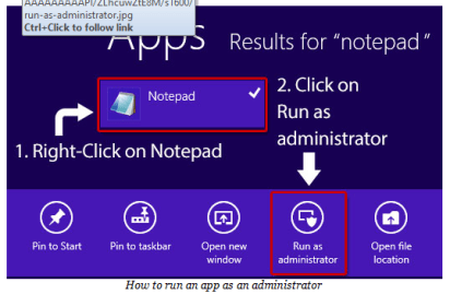 How to run app as an administrator