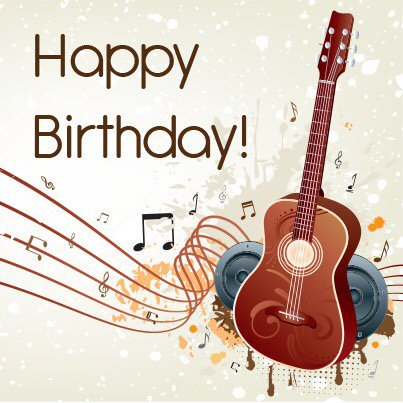Happy Birthday Images With Guitar Free Happy Bday Pictures And Photos Bday Card Com