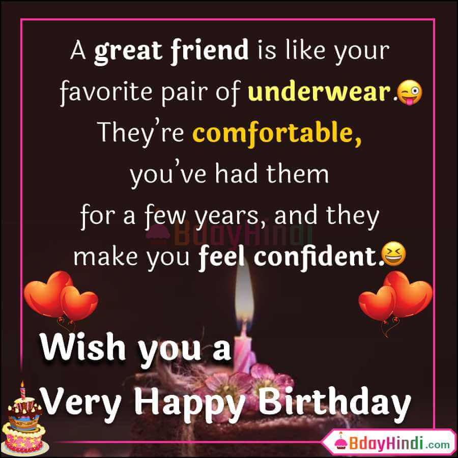 99 Funny Birthday Wishes For Friend In English Images Bdayhindi