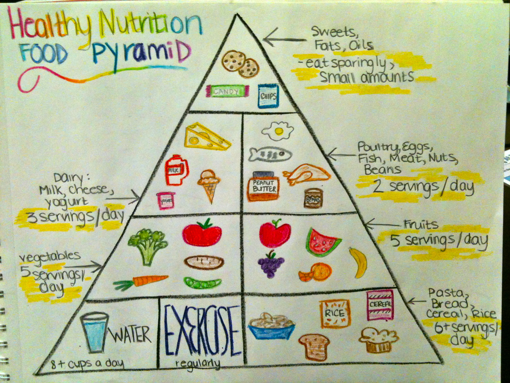 34 Food Pyramid With Label