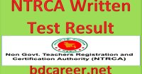 NTRCA Written Test Result