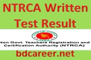 NTRCA Written Test Result