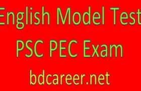 PSC PEC English Model Test