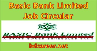 Basic Bank Limited Job Circular 2021