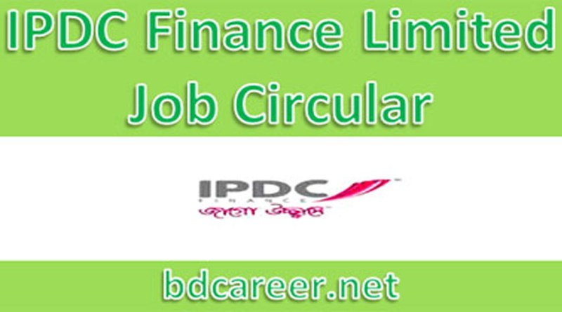 IPDC Finance Limited Job Circular 2020