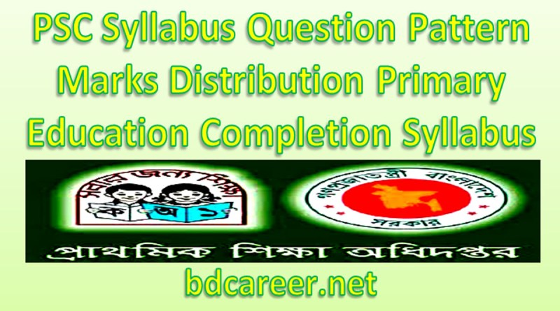 PSC Syllabus Question Pattern Marks Distribution 2020