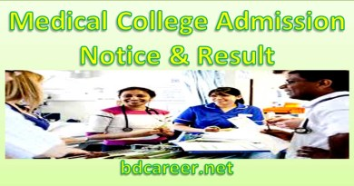 Medical College Admission Test Notice & Result