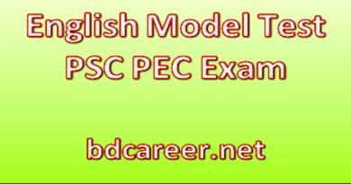 PSC PEC English Model Test 2020