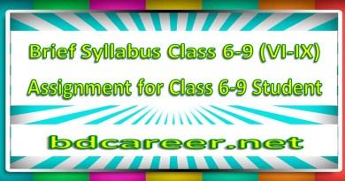 High School Short Syllabus Class Six to Nine (6-9) 2020