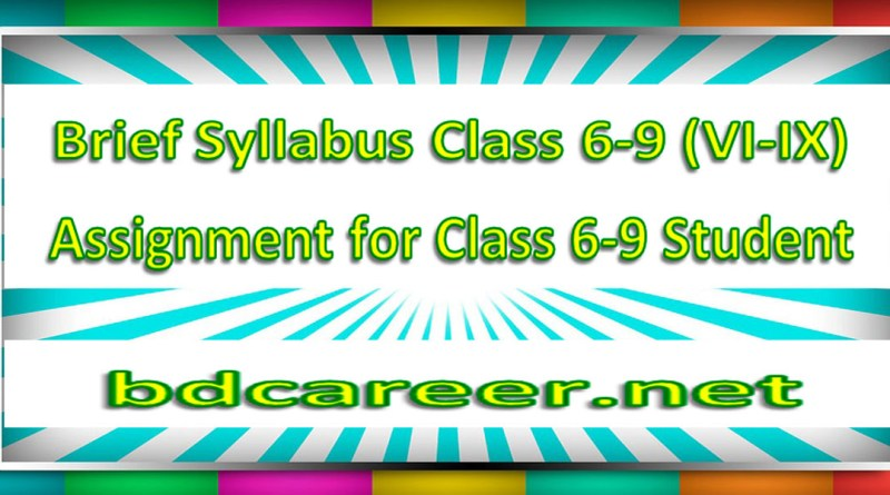 High School Short Syllabus Class Six to Nine (6-9) 2020